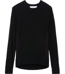 proenza schouler white label twisted knot combo silk knit sweater -