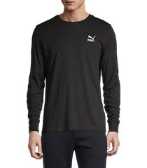 long-sleeve stretch-cotton tee