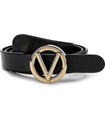 valentino by mario valentino women's logo leather belt - black - size xl