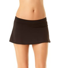 anne cole solid swim skirt women's swimsuit