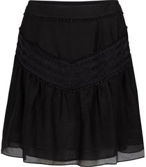 rok met pompom-details loubi  zwart