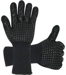 1 par de guantes para barbacoa de silicona resistente al calor extremo
