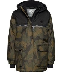 hmlwest jacket parka-jas groen hummel