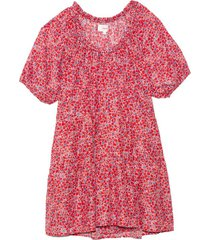 dolly dress in red blossom