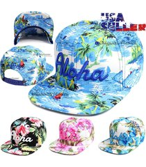 baseball cap hawaii floral adjustable snapback flat hip hop hat aloha mens women