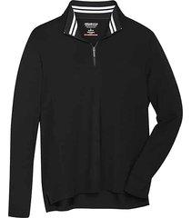 awearness kenneth cole men's awear-tech modern fit long sleeve 1/4 zip shirt black - size: xxl
