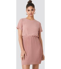 na-kd pleated skirt part dress - pink
