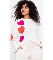 loft lou & grey heart sweater