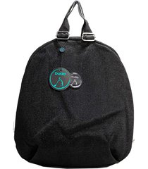 mochila negra buda metalizada