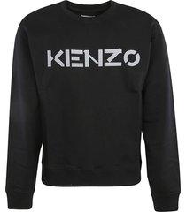 kenzo regular logo ribbed sweatshirt