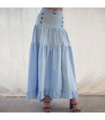 falda julia azul