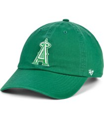 '47 brand los angeles angels kelly white clean up cap