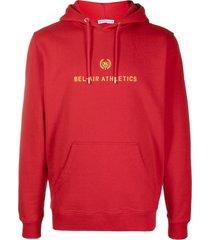 bel-air athletics embroidered-logo hoodie