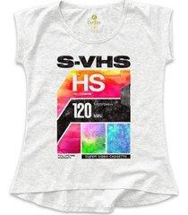 camiseta feminina t-shirt cool tees video cassete - feminino