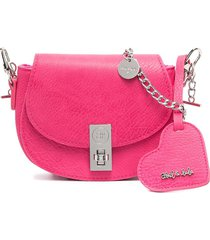 abel & lula heart-tag shoulder bag - pink