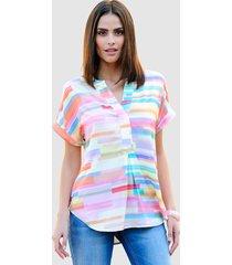 blouse alba moda roze::geel::blauw