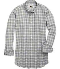 joseph abboud olive plaid sport shirt