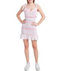 bcbgeneration smocked ruffled dress