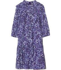 celine long sleeve tunic dress in lapis