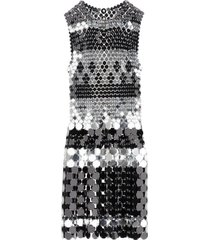 paco rabanne two-tone sequin dress
