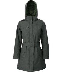 abrigo mujer aurora verde doite