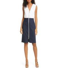 women's ted baker london annise exposed zip sleeveless dress