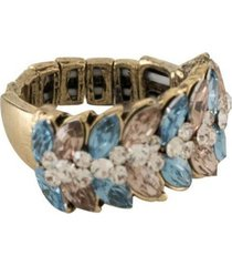 anel armazem rr bijoux regulável cristal mini navete azul grafite