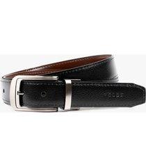 cinturón doble faz de cuero formal