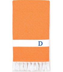 linum home personalized diamond pestemal orange beach towel bedding
