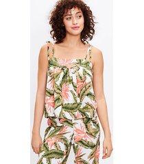 loft paradise bow strap pajama cami