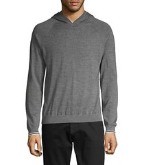 wool & cashmere-blend pullover hoodie