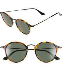 men's ray-ban 49mm retro sunglasses - spotted black havana/ green