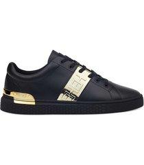 lage sneakers ed hardy - stripe low top-metallic black/gold