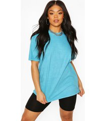 plus oversized washed t-shirt, turquoise