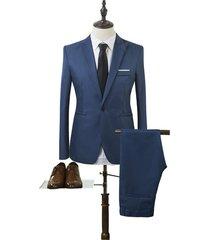 men coat and pant suit wedding tuxedos slim fit mens suits (jackets+pants)