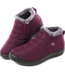 lostisy impermeabile caldo fodera invernale neve caviglia donne casual stivali