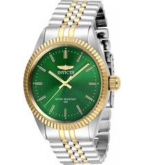 reloj invicta acero dorado modelo 293ln para hombres, colección specialty