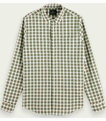 scotch & soda yarn-dyed katoenen overhemd