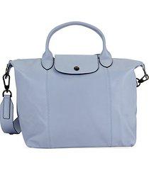 logo leather satchel