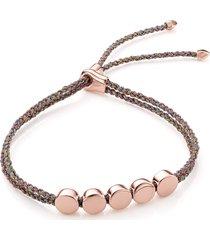 women's monica vinader engravable linear bead friendship bracelet