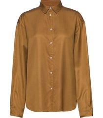benicia blouse lange mouwen bruin totême