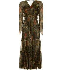 maxi jurk met lurex hendrix  zwart