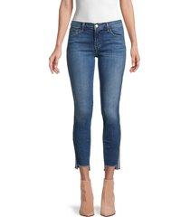 j brand women's 811 mid-rise side-stripe ankle skinny jeans - reflecting - size 26 (2-4)