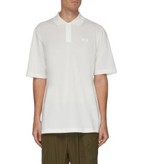 tonal logo print cotton polo shirt