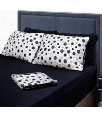 conjunto de lençol queen pertutty fios nobre 100 porcento algodão