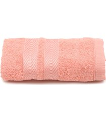 toalha de rosto artex color clip 41cmx70cm rosa - kanui