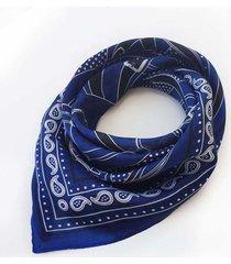 pañuelo azul nuevas historias símil seda combinado