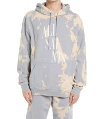 men's allsaints men's merger hoodie, size small - grey