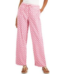 charter club printed linen pants, created for macy's