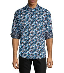 classic-fit circle-print shirt